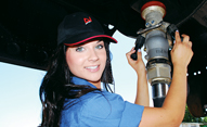 photo of employee providing fuel service
